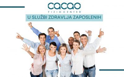 Benefit za zaposlene – usluge Cacao Fizio Center objekta u Kragujevcu
